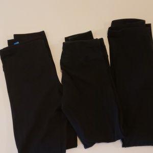 Girls black leggings bundle..
